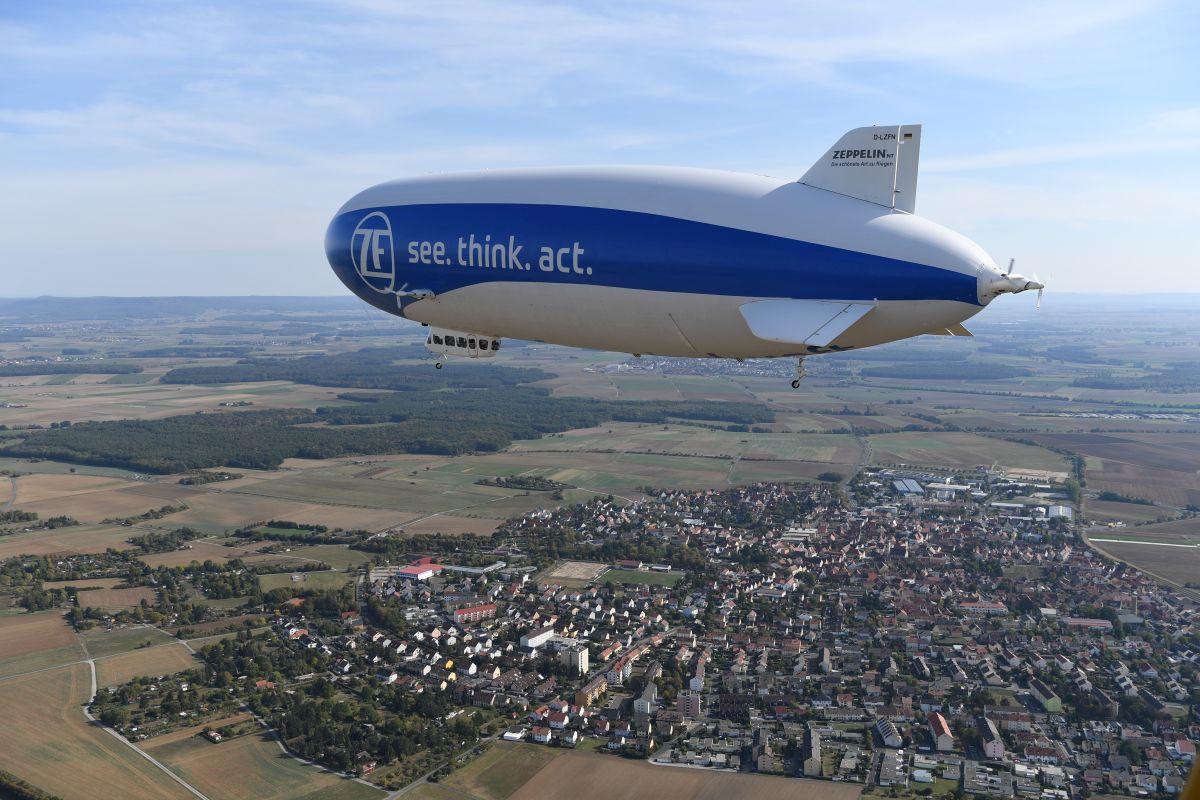 Sterowiec Zeppelin nad Bielskiem-Białą