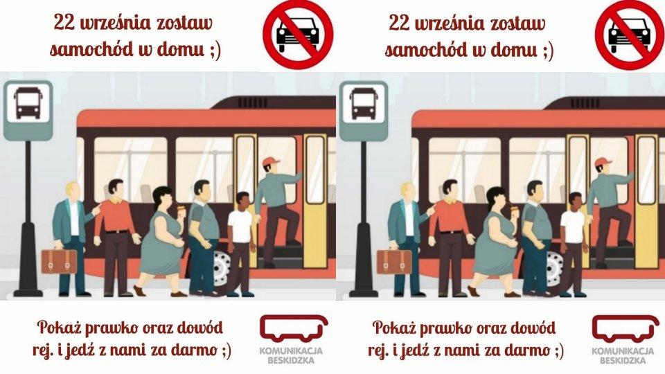 Dzień bez biletu dla kierowców w autobusach Komunikacji Beskidzkiej