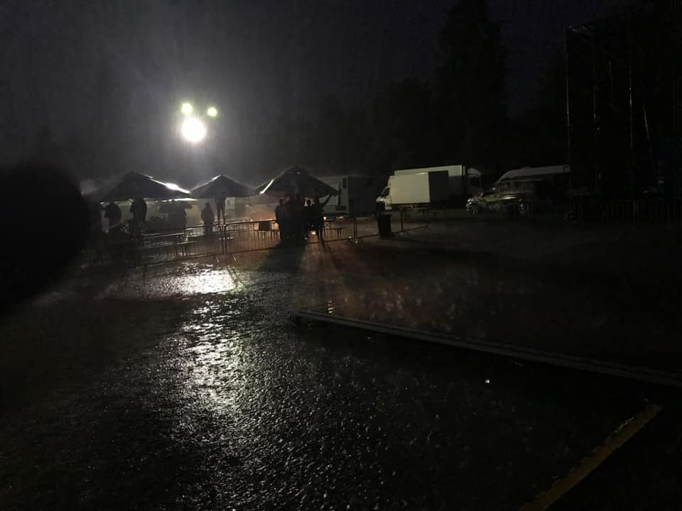 Burza uniemożliwiła występ gwieździe