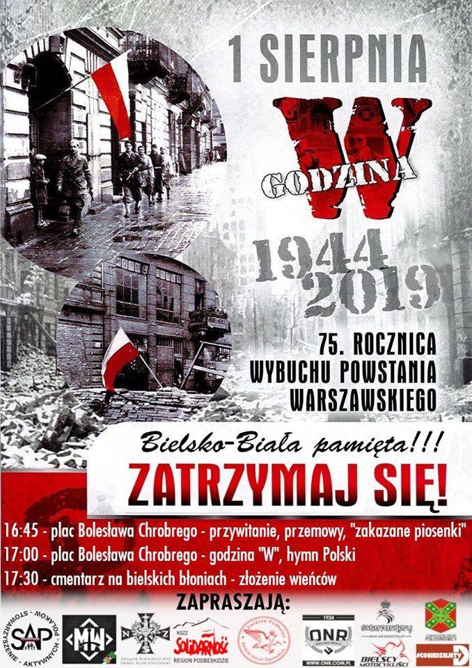 Bielsko-Biała pamięta. 1 sierpnia o godz. 17:00 na placu Chrobrego
